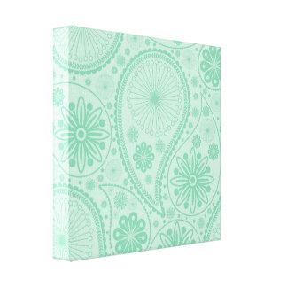 ペーズリー真新しい緑のパターン キャンバスプリント