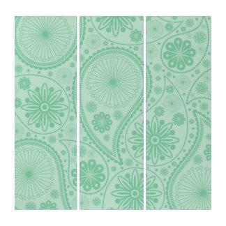 ペーズリー真新しい緑のパターン トリプティカ