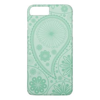 ペーズリー真新しい緑のパターン iPhone 8 PLUS/7 PLUSケース