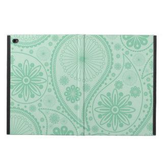 ペーズリー真新しい緑のパターン POWIS iPad AIR 2 ケース