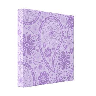 ペーズリー紫色のパターン キャンバスプリント