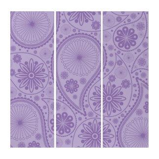 ペーズリー紫色のパターン トリプティカ