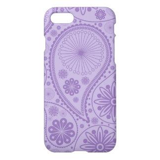 ペーズリー紫色のパターン iPhone 8/7 ケース