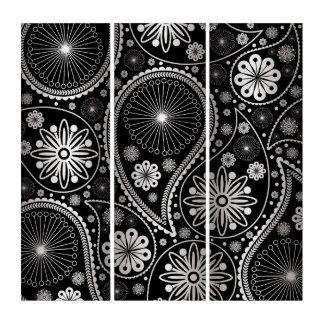 ペーズリー銀製のパターン トリプティカ