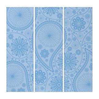ペーズリー青いパターン トリプティカ