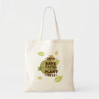 ペーパーをの保存の木救って下さい トートバッグ