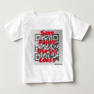 ペーパーを救って下さい、QRコードを使用して下さい ベビーTシャツ