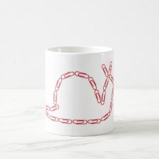ペーパークリップのかたつむりのマグ コーヒーマグカップ