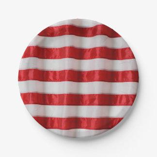 ペーパープレートアメリカの旗は縞で飾ります ペーパープレート