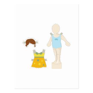ペーパー人形 ポストカード