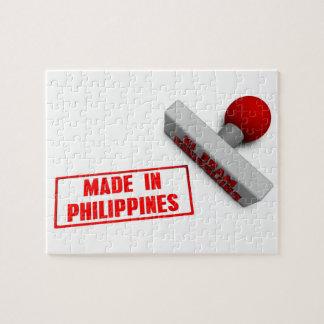 ペーパー概念でフィリピンのスタンプかチョップで作られる ジグソーパズル