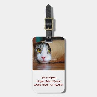 ペーパー猫-おもしろいな猫-猫のミーム-熱狂するな猫 ラゲッジタグ
