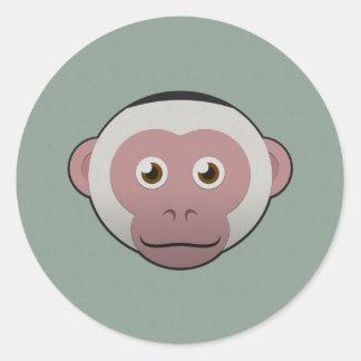 ペーパー白顔のCapuchin ラウンドシール