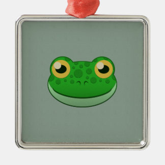 ペーパー緑カエル メタルオーナメント