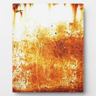 ペーパー錆ついた茶色の芸術の焼跡の煙の抽象芸術のアンティーク フォトプラーク