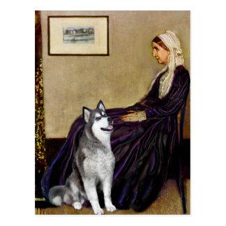 ホイスラーの母-アラスカンマラミュート ポストカード