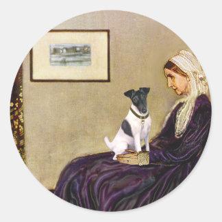 ホイスラーの母-滑らかなフォックステリア犬 ラウンドシール