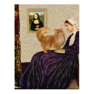 ホイスラーの母-赤いペルシャ ポストカード