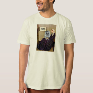 ホイスラーの母- (f) Keeshond Tシャツ