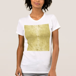 ホイルの紙の金クリスマスの星 Tシャツ
