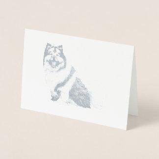 ホイルのKEESHONDカード 箔カード
