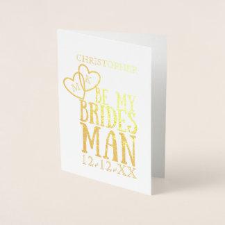 ホイルは私のBridesmanの要求によって折られる挨拶状です 箔カード