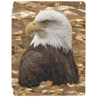 ホイル効果の野性生物の写真のポートレートの白頭鷲 iPadスマートカバー
