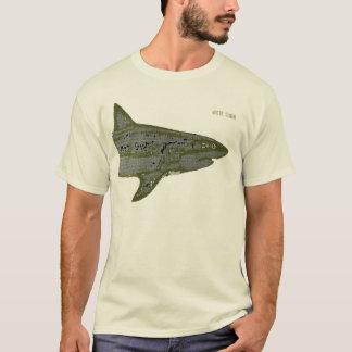 ホオジロザメ、危険 Tシャツ