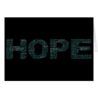 ホスピスの労働者は希望の精神を具体化します カード