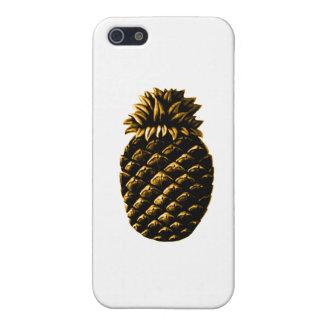ホスピタリティのパイナップル金ゴールドのjGibney博物館Zazz iPhone 5 ケース