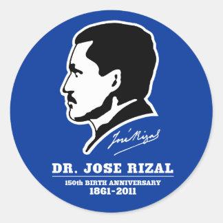 ホセRizal先生の@ 150th誕生記念日の記念品 ラウンドシール