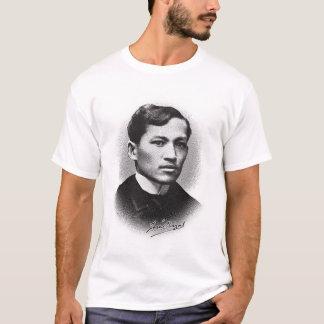 ホセRizal (黒いプリント) Tシャツ