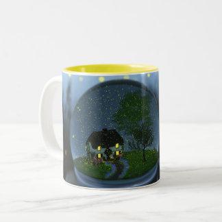 ホタルの地球のマグ ツートーンマグカップ
