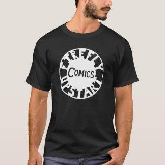 ホタルの成り上がりの白いロゴ Tシャツ
