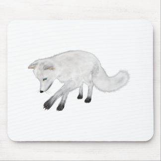 ホッキョクギツネの狩り マウスパッド