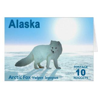 ホッキョクギツネ-アラスカの郵便料金 グリーティングカード