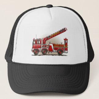 ホックおよび梯子の普通消防車の帽子 キャップ