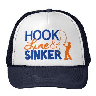 ホックラインおよび流し-トラック運転手の帽子 ハット