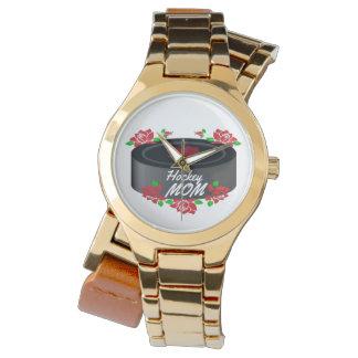 ホッケーのお母さんのカナダのバラのカエデの葉の腕時計 腕時計