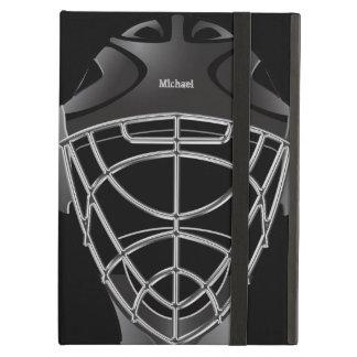 ホッケーのゴールキーパーのヘルメット iPad AIRケース