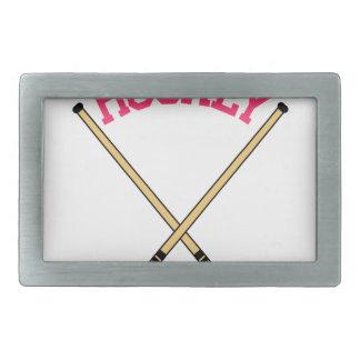 ホッケーの十字の棒 長方形ベルトバックル