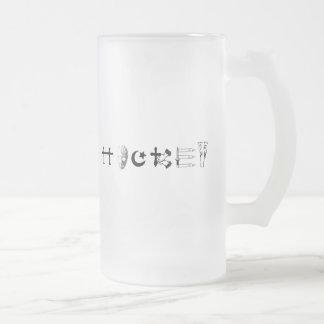 ホッケーの宗教 フロストグラスビールジョッキ