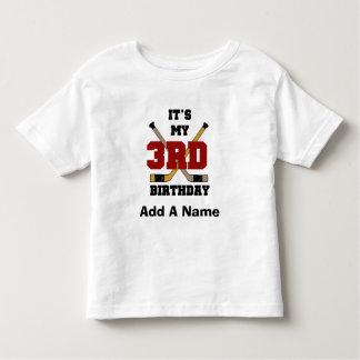 ホッケーの第3誕生日のTシャツおよびギフト トドラーTシャツ