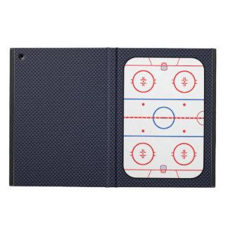 ホッケーの試合の友達カーボン繊維のスタイル iPad AIRケース
