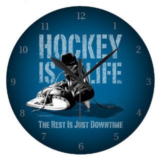 ホッケーは生命です ラージ壁時計