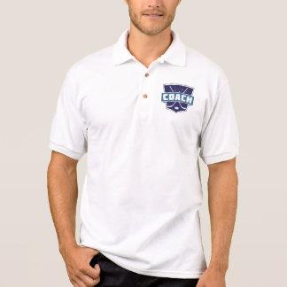 ホッケーコーチの盾のデザイン ポロシャツ