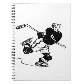 ホッケー選手の漫画 ノートブック