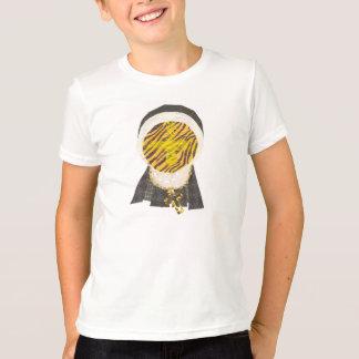 ホットクロスバンの尼僧背景の子供のTシャツ無し Tシャツ