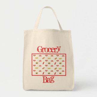 ホットドッグおよびハンバーガーの食料雑貨のトートバック トートバッグ