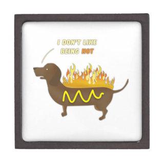 ホットドッグのおもしろいな冗談のスローガン ギフトボックス